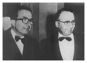 Giulio Andreotti e Licio Gelli